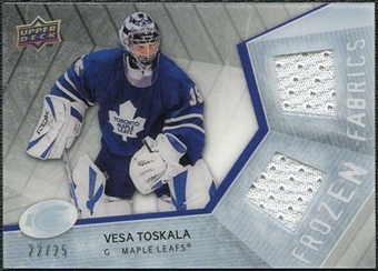 2008/09 Upper Deck Ice Frozen Fabrics Black Parallel #FFVT Vesa Toskala /25