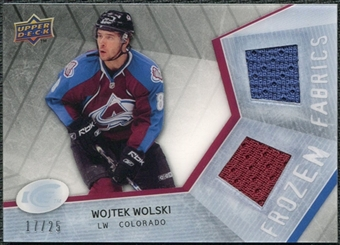 2008/09 Upper Deck Ice Frozen Fabrics Black Parallel #FFWW Wojtek Wolski /25