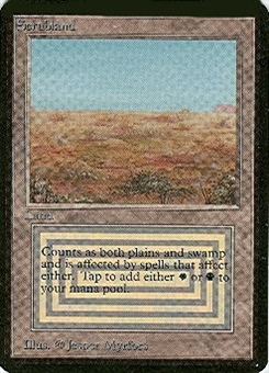 Magic the Gathering Alpha Single Scrubland UNPLAYED (NM/MT)