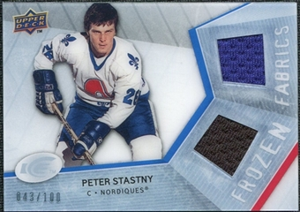 2008/09 Upper Deck Ice Frozen Fabrics Parallel #FFPS Peter Stastny /100