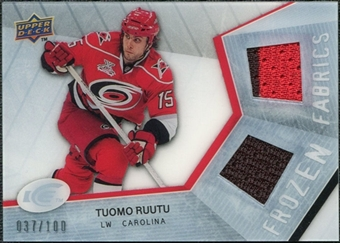 2008/09 Upper Deck Ice Frozen Fabrics Parallel #FFTR Tuomo Ruutu /100