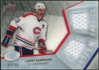 2008/09 Upper Deck Ice Frozen Fabrics Black Parallel #FFLR Larry Robinson /25