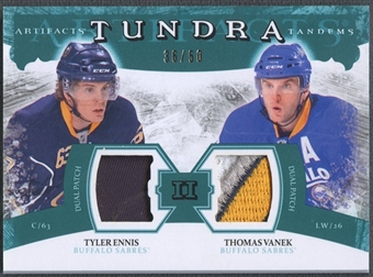 2011/12 Upper Deck Artifacts Hockey Tyler Ennis & Thomas Vanek Patch #36/50
