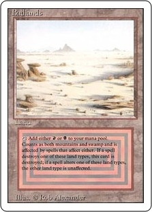Magic the Gathering 3rd Ed (Revised) Single Badlands MODERATE PLAY (VG/EX)