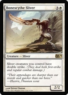 Magic the Gathering 2014 Single Bonescythe Sliver Foil