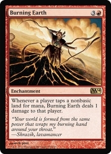 Magic the Gathering 2014 Single Burning Earth - NEAR MINT (NM)