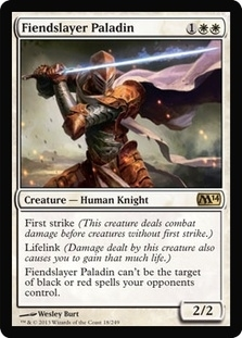 Magic the Gathering 2014 Single Fiendslayer Paladin UNPLAYED (NM/MT)