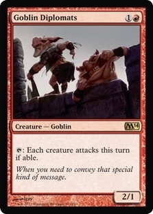 Magic the Gathering 2014 Single Goblin Diplomats - 4x Playset - NEAR MINT (NM)