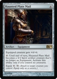 Magic the Gathering 2014 Single Haunted Plate Mail UNPLAYED (NM/MT) - 4x Playset