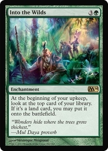 Magic the Gathering 2014 Single Into the Wilds - 4x Playset - NEAR MINT (NM)