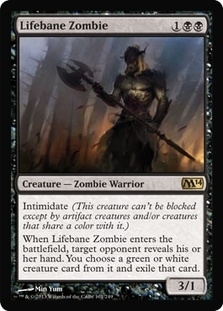Magic the Gathering 2014 Single Lifebane Zombie - NEAR MINT (NM)