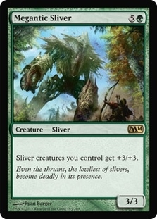 Magic the Gathering 2014 Single Megantic Sliver - 4x Playset - NEAR MINT (NM)