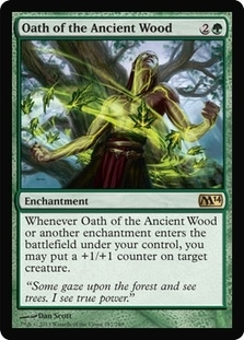 Magic the Gathering 2014 Single Oath of the Ancient Wood - 4x Playset - NEAR MINT (NM)