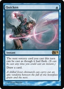 Magic the Gathering 2014 Single Quicken UNPLAYED (NM/MT) - 4x Playset