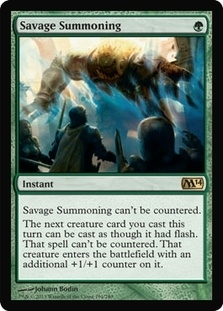 Magic the Gathering 2014 Single Savage Summoning UNPLAYED (NM/MT)