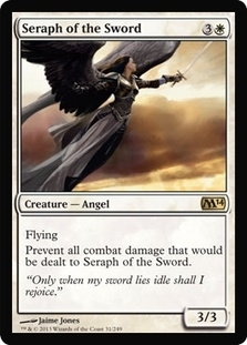Magic the Gathering 2014 Single Seraph of the Sword - 4x Playset - NEAR MINT (NM)