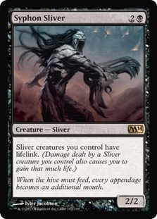 Magic the Gathering 2014 Single Syphon Sliver - 4x Playset - NEAR MINT (NM)