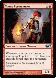 Magic the Gathering 2014 Single Young Pyromancer UNPLAYED (NM/MT)