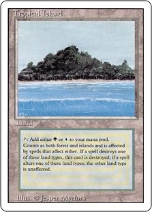 Magic the Gathering 3rd Ed (Revised) Single Tropical Island - NEAR MINT (NM)