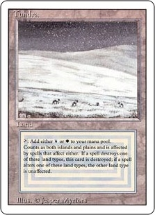 Magic the Gathering 3rd Ed (Revised) Single Tundra HEAVY PLAY