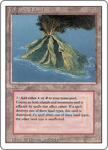 Magic the Gathering 3rd Ed (Revised) Single Volcanic Island - HEAVY PLAY (HP)