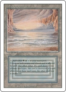 Magic the Gathering 3rd Ed (Revised) Single Underground Sea MODERATE PLAY (VG/EX)