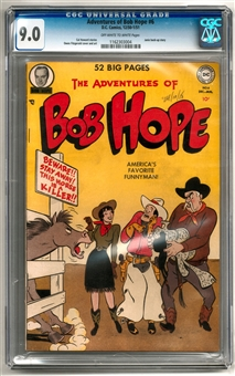 Adventures of Bob Hope #6 CGC 9.0 (OW-W) *1162303004*