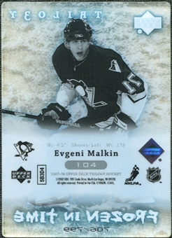 2007/08 Upper Deck Trilogy #104 Evgeni Malkin /799