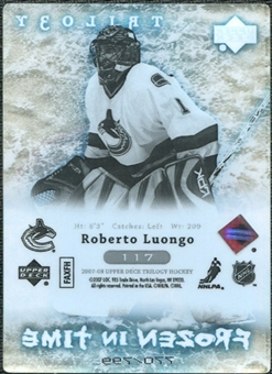 2007/08 Upper Deck Trilogy #117 Roberto Luongo /799