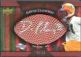 2007 Upper Deck Sweet Spot Pigskin Signatures Bronze #DC David Clowney /49
