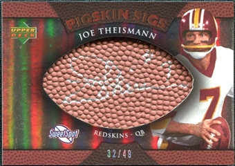 2007 Upper Deck Sweet Spot Pigskin Signatures Bronze #TH Joe Theismann Autograph /49