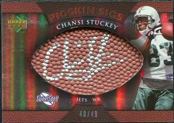 2007 Upper Deck Sweet Spot Pigskin Signatures Bronze #CS2 Chansi Stuckey /49
