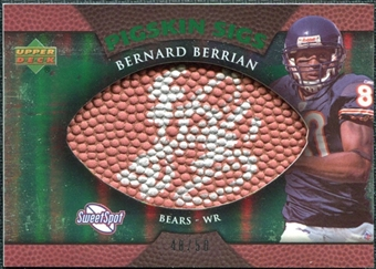 2007 Upper Deck Sweet Spot Pigskin Signatures Green #BB Bernard Berrian /50