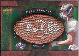 2007 Upper Deck Sweet Spot Pigskin Signatures Green #BE Drew Bennett /50