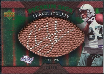 2007 Upper Deck Sweet Spot Pigskin Signatures Green #CS Chansi Stuckey /50