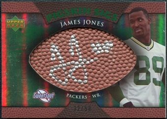 2007 Upper Deck Sweet Spot Pigskin Signatures Green #JO James Jones Autograph /50