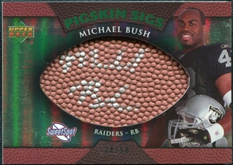 2007 Upper Deck Sweet Spot Pigskin Signatures Green #MB Michael Bush Autograph /50