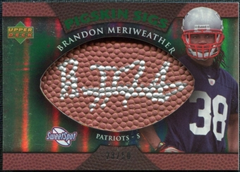 2007 Upper Deck Sweet Spot Pigskin Signatures Green #ME Brandon Meriweather /50