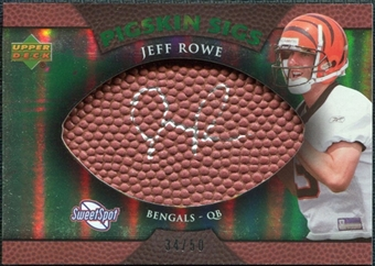 2007 Upper Deck Sweet Spot Pigskin Signatures Green #RO Jeff Rowe Autograph /50