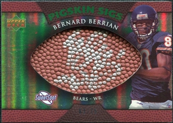 2007 Upper Deck Sweet Spot Pigskin Signatures Green #BB Bernard Berrian Autograph /75