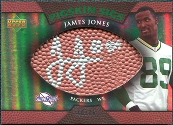 2007 Upper Deck Sweet Spot Pigskin Signatures Green #JO James Jones /75