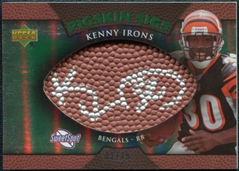 2007 Upper Deck Sweet Spot Pigskin Signatures Green #KI Kenny Irons Autograph /75