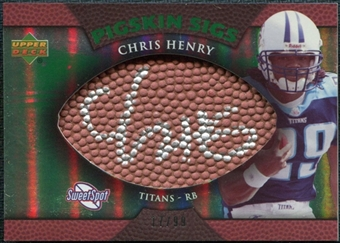2007 Upper Deck Sweet Spot Pigskin Signatures Green #CH Chris Henry /99