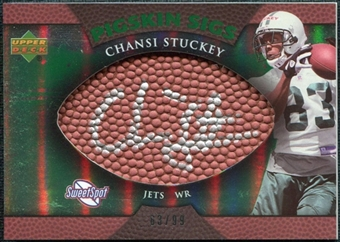 2007 Upper Deck Sweet Spot Pigskin Signatures Green #CS Chansi Stuckey /99