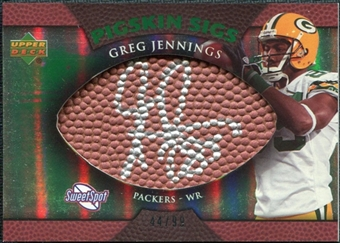2007 Upper Deck Sweet Spot Pigskin Signatures Green #GJ Greg Jennings /99