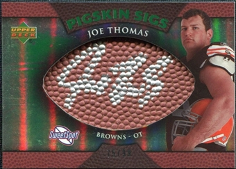 2007 Upper Deck Sweet Spot Pigskin Signatures Green #JT Joe Thomas /99