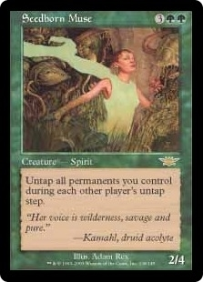 Magic the Gathering Legions Single Seedborn Muse - SLIGHT PLAY (SP)
