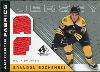 2007/08 Upper Deck SP Game Used Authentic Fabrics #AFBR Brandon Bochenski