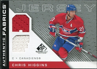2007/08 Upper Deck SP Game Used Authentic Fabrics #AFCH Chris Higgins