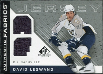 2007/08 Upper Deck SP Game Used Authentic Fabrics #AFDL David Legwand